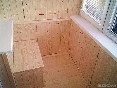 Мебель для лоджии по индивидуальному проекту от компании мас.