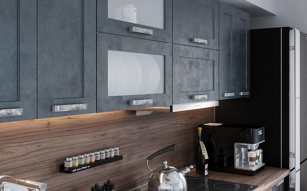 Кухня цвет бетон купить аренда вибратора бетона