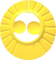 Детский козырек для душа с ушками желтый, Baby Swimmer