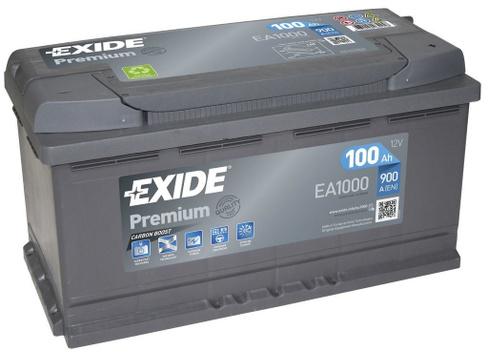 Аккумуляторная батарея EXIDE Premium EA1000 (100Ач EN900A о.п.)