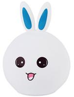 Декоративный светильник Эра nled-416-2w-bu заяц белый с синим